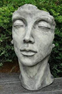 Portrait Gesicht FRAU H50cm Skulptur Steinfigur Englischer Steinguss Vidroflor