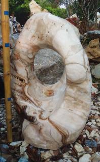 OZEANFINDLING Findling H102cm 419kg Naturstein Meeresgestein Skulptur Stein Onyx