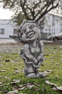 Troll Mädchen MALIN H51cm Skulptur Steinfigur Steinguss Vidroflor Kobold Gnom