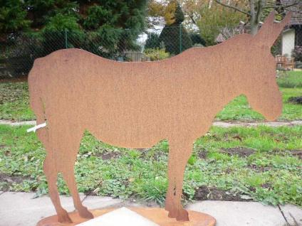 ESEL 110x92cm Pferd Pony Edelrost Rost Metall Figur Rostfiguren Rostfigur Tier
