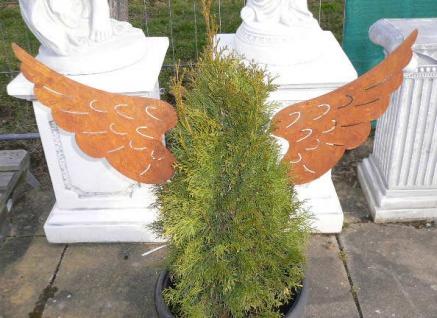1 Paar ENGELSFLÜGEL 42x22cm Gartenstecker Weihnachten Engel Flügel Rost Edelrost - Vorschau 3