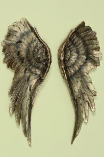 3D Wand Objekt 1 Paar ENGELSFLÜGEL Gold 54 cm hoch Design Flügel Wings Wanddeko