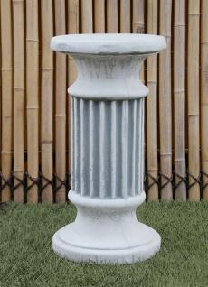 Sockel Säule rund Höhe 55 cm Gartendekoration Steinguss Steinfigur frostfest