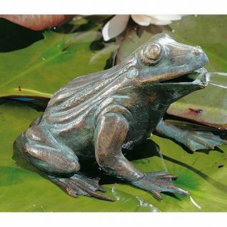 Bronzefigur Wasserspeier Frosch 11cm hoch Rottenecker Bronze Wasserspiel