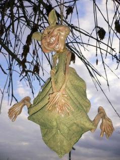 Laubmännchen hängend 31cm Blattmännchen Wichtel Kobold Dekoration wetterfest