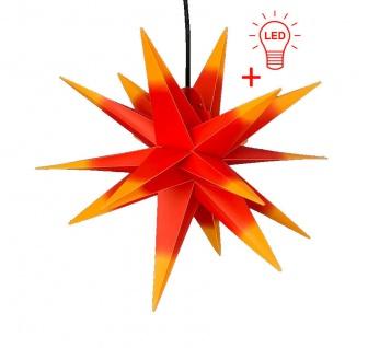 LED Außenstern ROT GELB 3D XXL Weihnachtsstern Ø 100cm INKL. LEUCHTMITTEL Stern