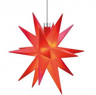 3D LED MINI STERN rot 12 cm Batterie Weihnachtsstern Leuchtstern klein Innen
