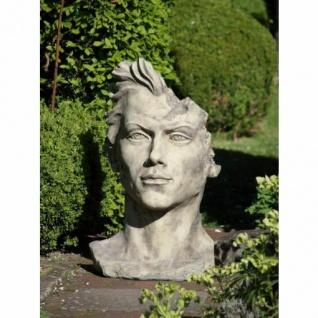 Portrait Gesicht MANN H88cm Skulptur Steinfigur Englischer Steinguss Vidroflor