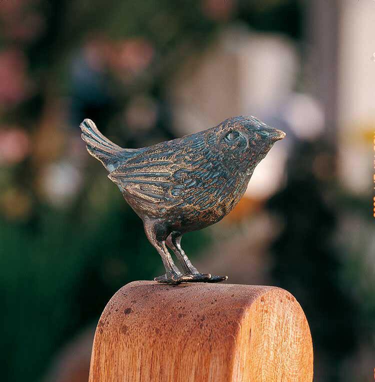 Bronzefigur Zaunkönig 6x8, 5cm Rottenecker Bronze Bronze Bronze Vogel Vögel Singvogel Spatz b56803