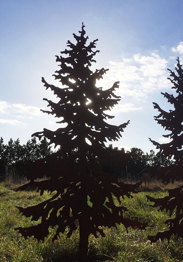 Tannenbaum Edelrost.Tanne 1 75m Gartenstecker Weihnachtsbaum Tannenbaum Christbaum Rost Edelrost