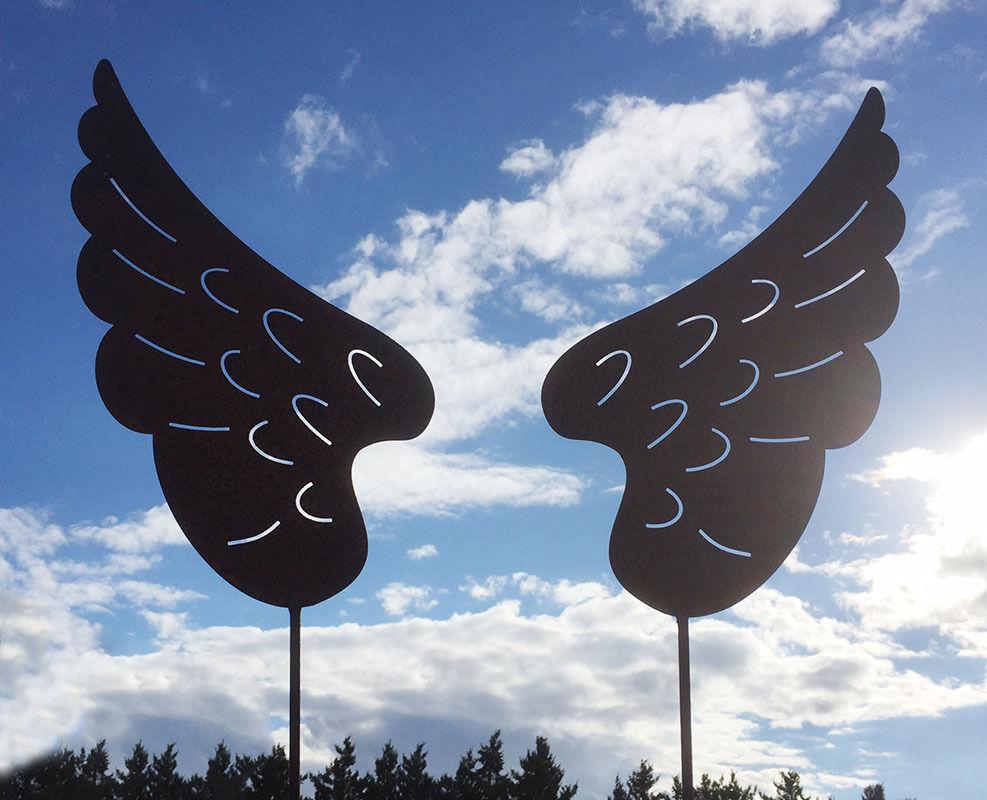Gartenstecker Weihnachten.1 Paar Engelsflügel 42x22cm Gartenstecker Weihnachten Engel Flügel Rost Edelrost