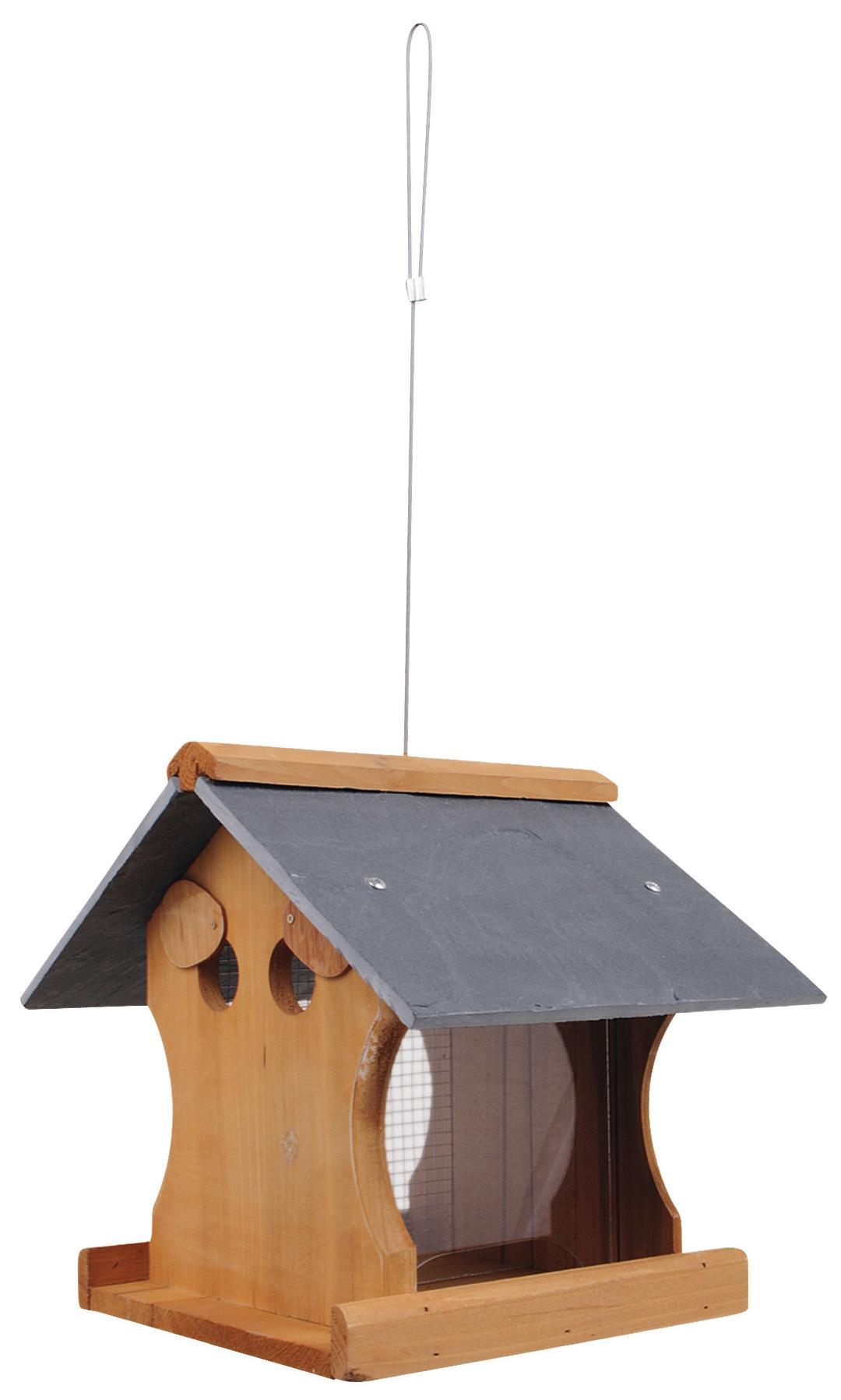 futterhaus vogelhaus 27x32cm zum aufh ngen zedern holz. Black Bedroom Furniture Sets. Home Design Ideas