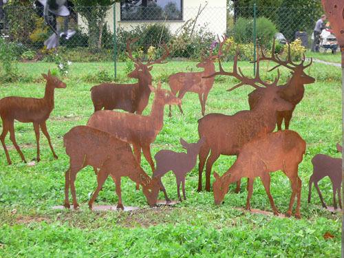 REHKITZ liegend groß 52x60cm 52x60cm 52x60cm Reh Kitz Bambi Hirsch Rost Edelrost Metall Figur f6e0ed