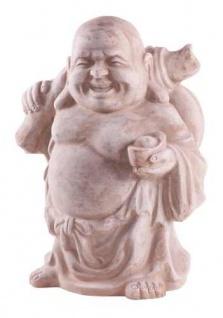Lucky Buddha 52cm terrakotta terracotta Glücksbuddha wetterfest Garten Figur