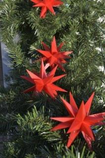 9er LED Stern Lichterkette ROT 3D Sternenkette Weihnachtsstern außen innen