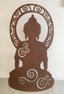 BUDDHA GANESHA H60m zum Beleuchten Rost Edelrost Metall Figur Hindu Göttin Yoga