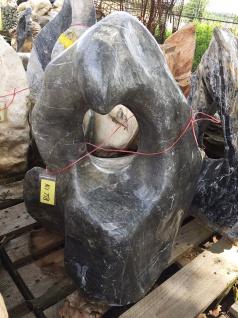 OZEANFINDLING Findling H82cm Naturstein Meeresgestein Dekostein Skulptur Stein