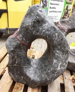 OZEANFINDLING Findling H82cm 161kg Naturstein Meeresgestein Dekostein Stein