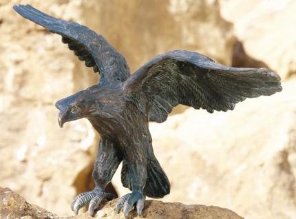 Bronzefigur Adler 24x38cm Rottenecker Bronze Greifvogel Falke Vogel Dekoration