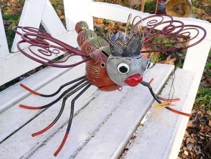 Medusa LIBELLE L34cm Metall Figur handbemalt Windlicht Teelicht Insekt