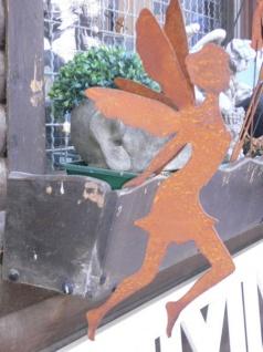 Elfe zum Einhängen 50cm Edelrost Fee Doppelflügel Rost Metall Hänger Aufhänger - Vorschau 2