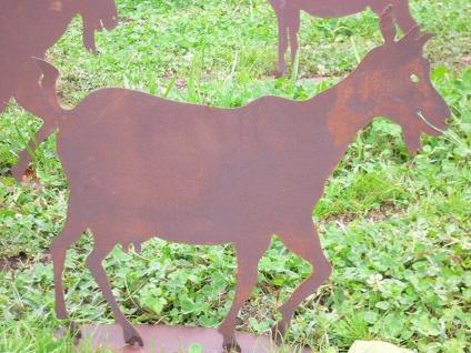ZICKLEIN Ziege Ziegenbock Rost Edelrost Metall Figur Rostfiguren Rostfigur