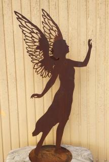 Engel Valerie 82 cm filigrane Doppelflügel Edelrost Rost Weihnachtsengel
