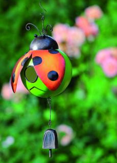 Vogelhaus Käfer 20cm zum Aufhängen Metall bunt bemalt Nistkasten Vögel witzig