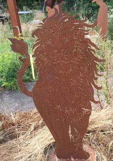 Löwe Afrika 115cm Edelrost Rost Metall Figur Rostfiguren Rostfigur Tier Lion Leo - Vorschau 2