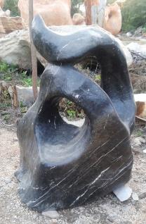 OZEANFINDLING Findling H97cm Naturstein Meeresgestein Dekostein Skulptur Stein