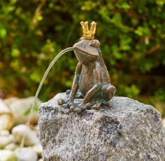 Bronzefigur Wasserspeier Froschkönig Klaus 13cm Rottenecker Bronze Frosch