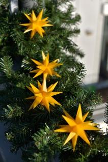 9er LED Stern Lichterkette GELB 3D Sternenkette Weihnachtsstern außen innen