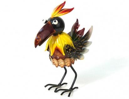 bunter Feuer Vogel PHÖNIX H25cm Metall bunt bemalt Phoenix Figur Dekoration