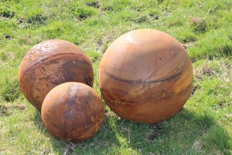 Vollkugel Kugel D30cm Edelrost Rost Metall Ball Dekoration Gartendekoration
