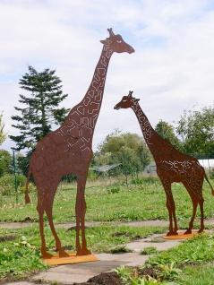Giraffe Afrika 150cm Edelrost Rost Metall Figur Rostfiguren Rostfigur Tier