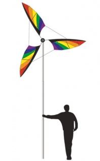 Riesen Windrad XL Rainbow Höhe 4, 20m Ø2m SolarMax Polyestertuch Fiberglasstab - Vorschau 2