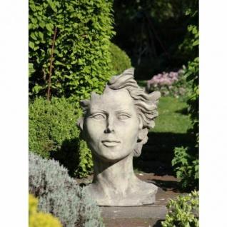 Portrait Gesicht FRAU H90cm Skulptur Steinfigur Englischer Steinguss Vidroflor
