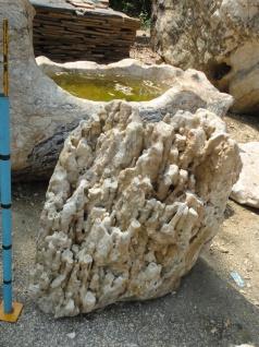 OZEANFINDLING Korallen ähnlich 98x105cm Findling Naturstein Meeresgestein Stein
