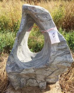 OZEANFINDLING Findling 70x53cm 99kg Naturstein Meeresgestein Skulptur Stein
