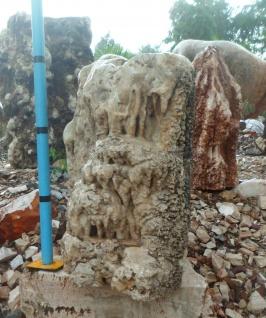 OZEANFINDLING Findling 63x70cm Naturstein Meeresgestein Stein Korallen ähnlich