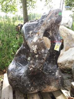 OZEANFINDLING Findling H112cm Naturstein Meeresgestein Dekostein Skulptur Stein