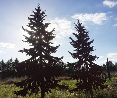 TANNE 1, 5m Gartenstecker Weihnachtsbaum Tannenbaum Christbaum Rost Edelrost - Vorschau 4