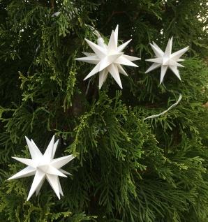 3er LED Mini Stern Sternenkette 8cm weiß Batterie Innen Lichterkette Weihnachten