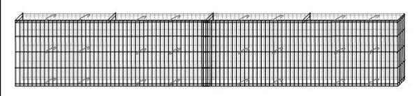 Mauer Gabione L232xH40xT10cm gerade geschwungen Mauergitter Hochbeet Bellissa - Vorschau 3