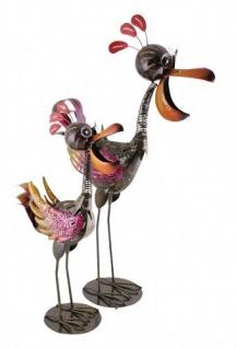 CRAZY VOGEL Metall bemalt 2 Sorten Dekoration Figur Skulptur Exner verrücktes
