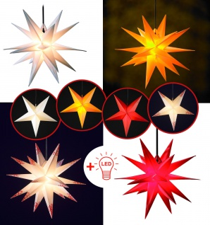 LED WEIHNACHTSSTERN 55-60cm FALTSTERN Außenstern Adventstern Stern Weihnachten