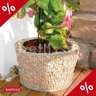 BLUMENTOPF Gabione rund Ø 54 cm Höhe 34 cm Gabionen Gartendekoration Bellissa