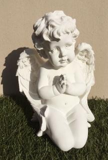 ENGEL BETEND 30cm Polyresin Weihnachten Grabschmuck Grabdekoration Dekoration