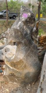 OZEANFINDLING Findling H124cm Naturstein Meeresgestein Dekostein Skulptur Stein