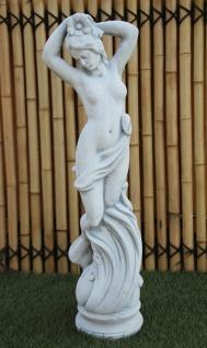 Frau Blumen im Haar mit Blume 85cm 27kg Blumenfrau Steinguss Steinfigur